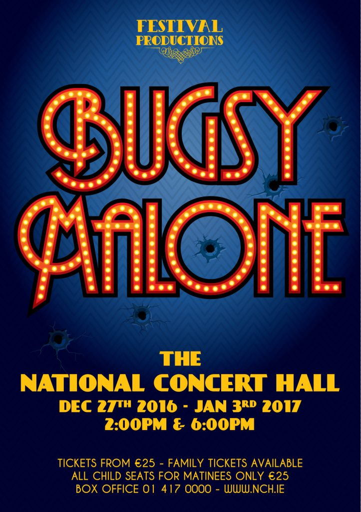 Bugsy Malone Logo & Graphics - Client: Festival Productions