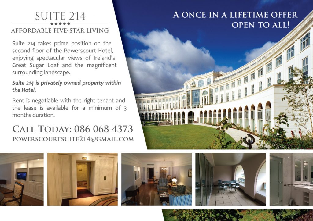 Suite 214 Newspaper Advert